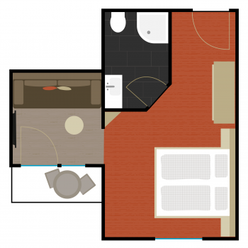 Zimmer 1 | Grundriss