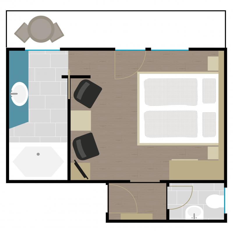 Grundriss Zimmer 10