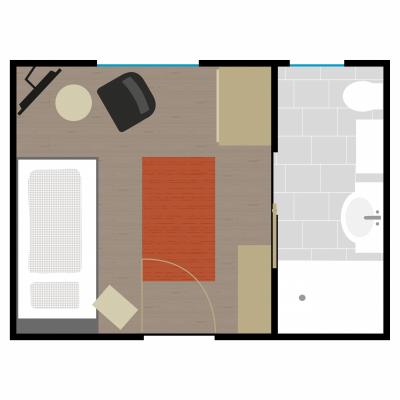 Grundriss Zimmer 11