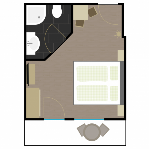 Grundriss Zimmer 3