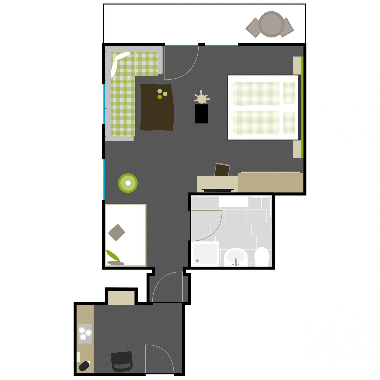 Grundriss Zimmer 4
