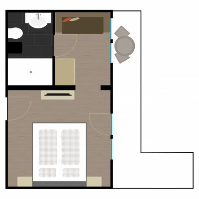 Grundriss Zimmer 7