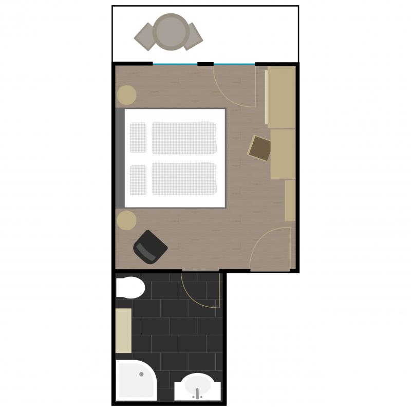 Grundriss Zimmer 8
