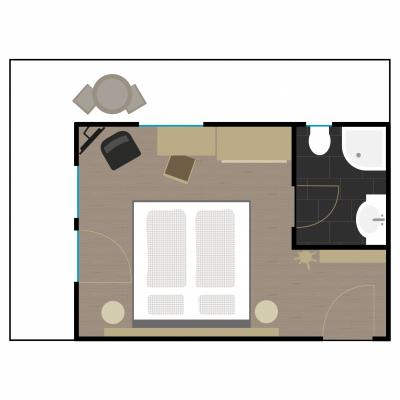 Grundriss Zimmer 9